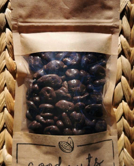 Spanguolės juodojo šokolado apvalkale, 125g